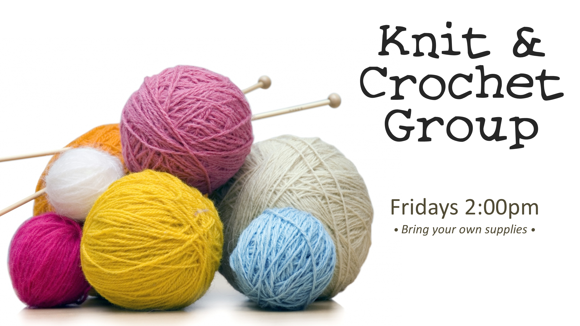 Knit & Crochet Group (In-Person)