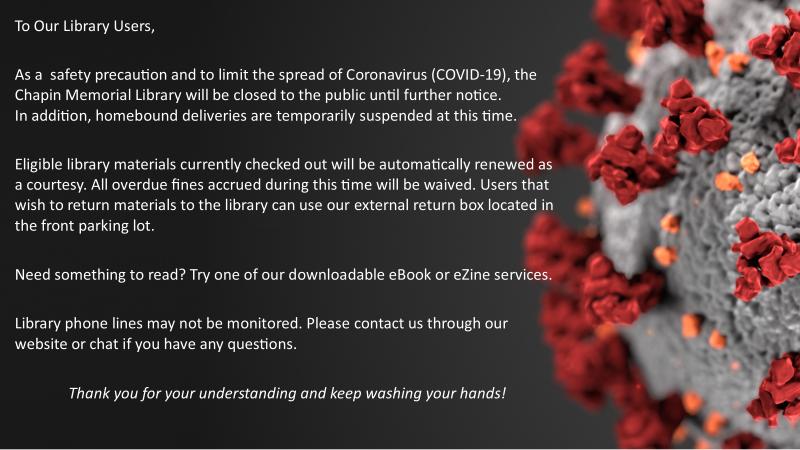 COVID-19 library info