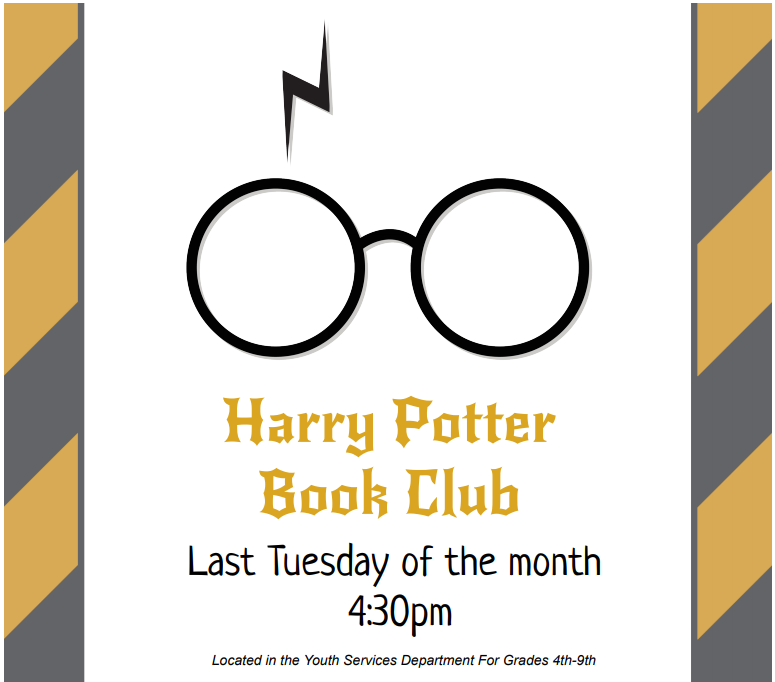 Cancelled - Harry Potter Book Club - Grades 4th-9th