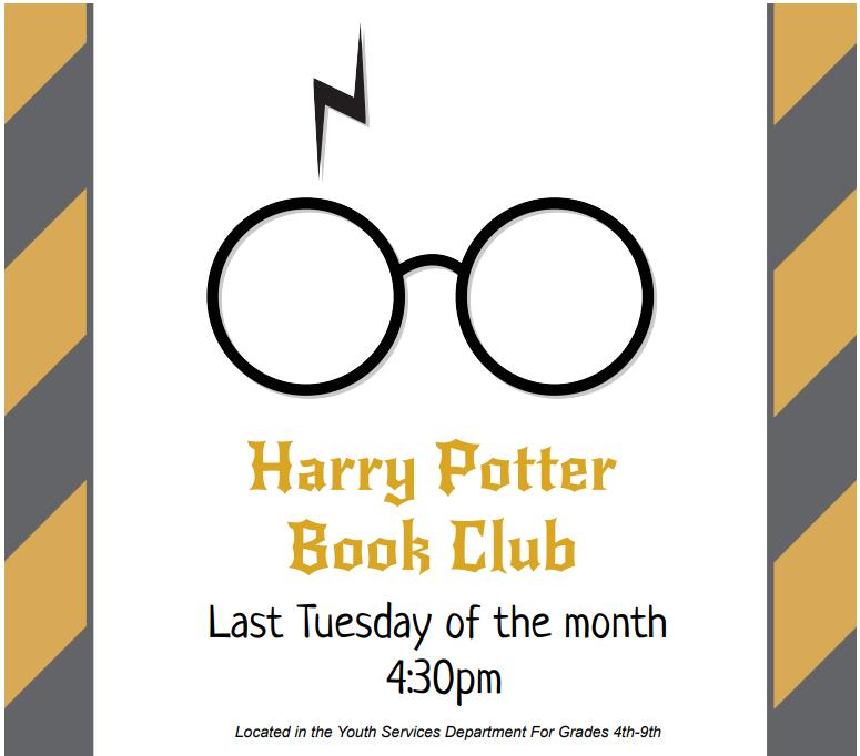 Harry Potter Book Club - Grades 4th-9th